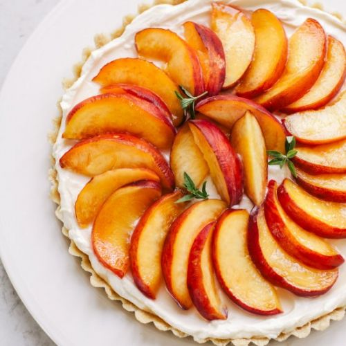 No-Bake Peach Cream Tart