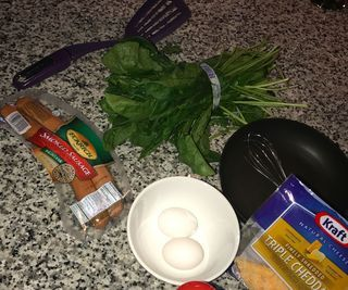 How to make a sausage, spinach, and cheese omelette