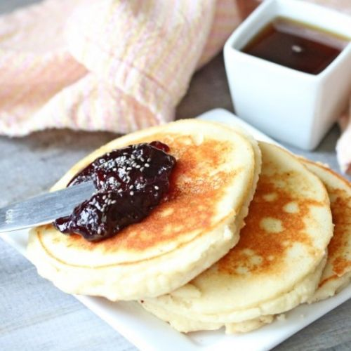 High Protein Yogurt Pancakes