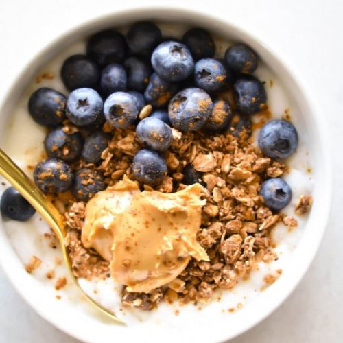Blueberry Granola and Yogurt Bowl