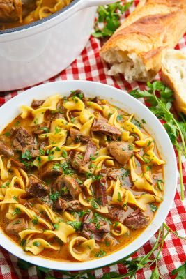 Slow Braised Beef Stroganoff Soup - Recipes - Food Drink Buzz