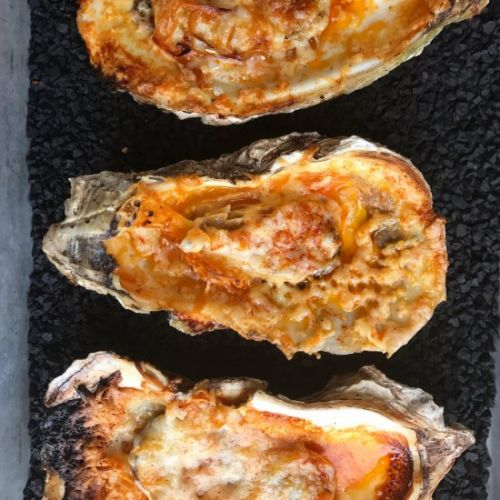 Grilled Cocktail Oysters