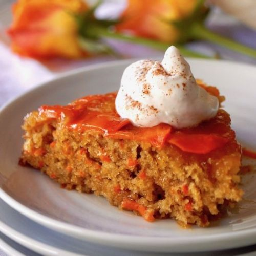 Upside Down Apricot-Carrot Cake