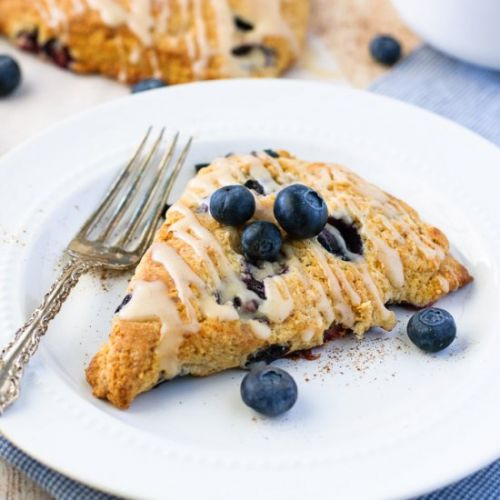 Blueberry Scones with Glaze