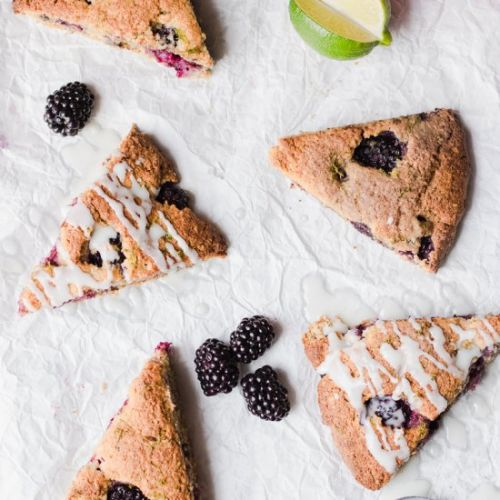 Healthy Blackberries & Lime Scones