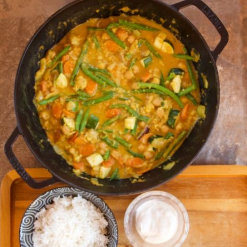 Easy Red Vegetable Curry