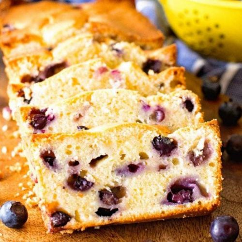 Cream Cheese Blueberry Bread