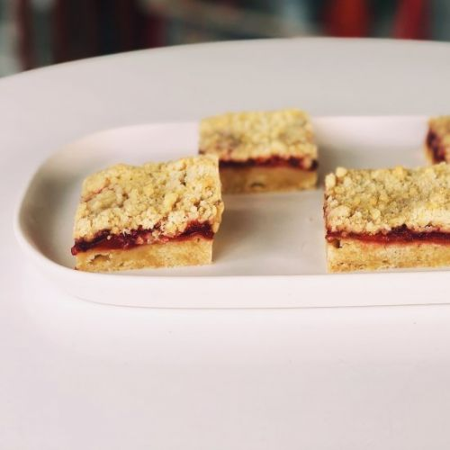 Sour Cherry Crumb Bars