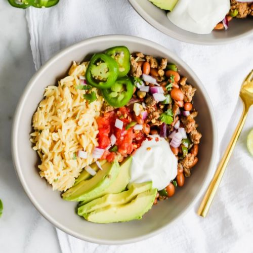 Loaded Turkey Taco Bowls