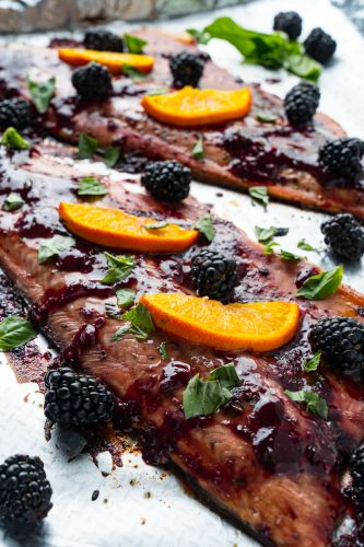 Blackberry Balsamic Trout