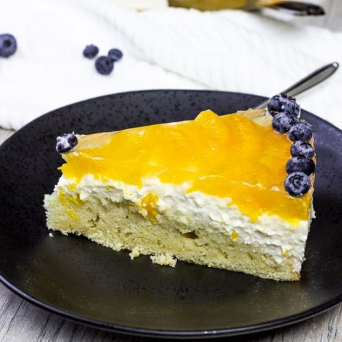 Vegan Mandarin Jelly Cheesecake