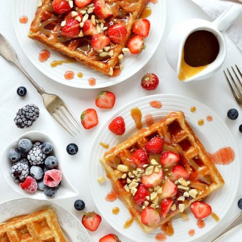 Peanut Butter Jelly Waffles