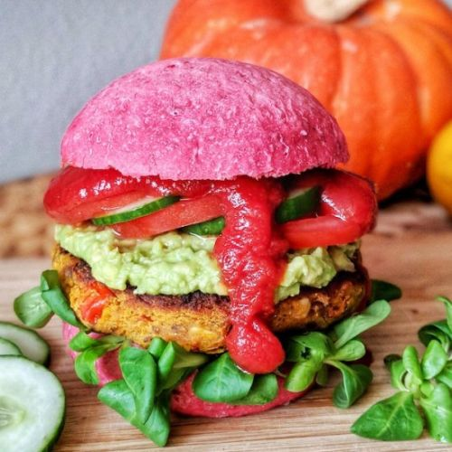 The best Pumpkin Veggie Burger