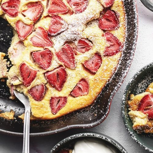 Keto Strawberry Clafoutis