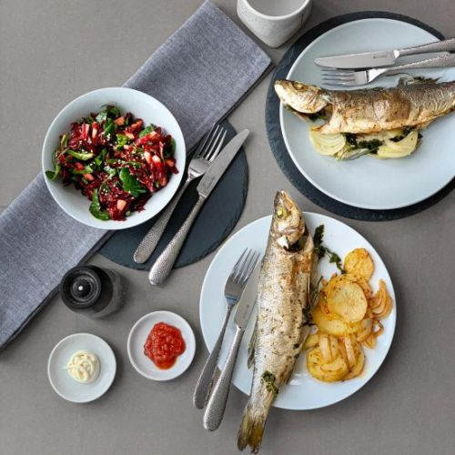 Roasted Whole Fish with Potatoes