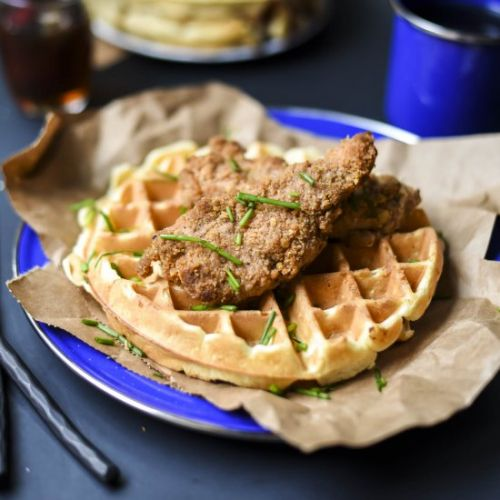 Oven-Fried Chicken & Waffle