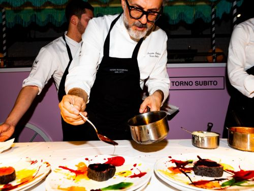 Massimo Bottura's First Restaurant Outside Italy Is a Fellini-Inspired Party
