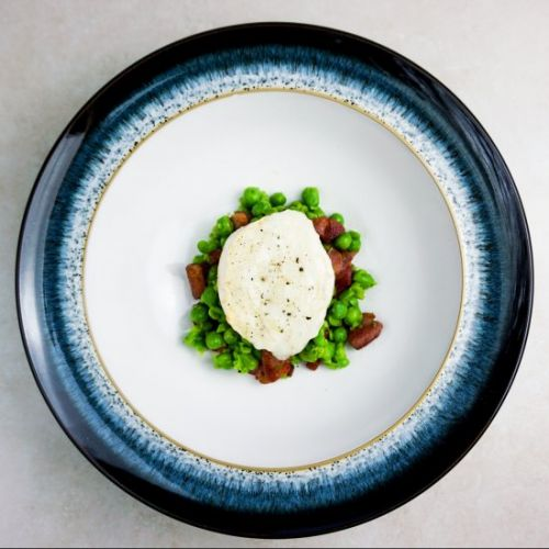 Goats Cheese, Pancetta & Pea Salad
