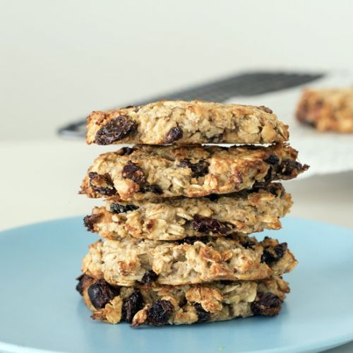 Almond, oat and banana cookies