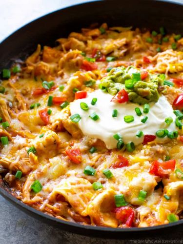 One Pan Chicken Enchilada Skillet
