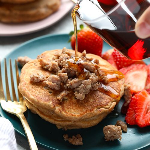 Maple Breakfast Sausage Pancake Recipe