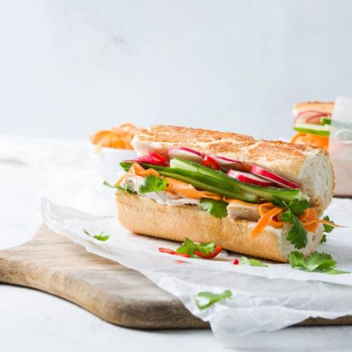 Leftover Turkey Banh Mi Baguette