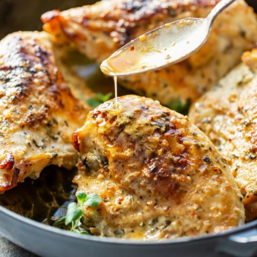 Oven Roasted Greek Chicken Breasts