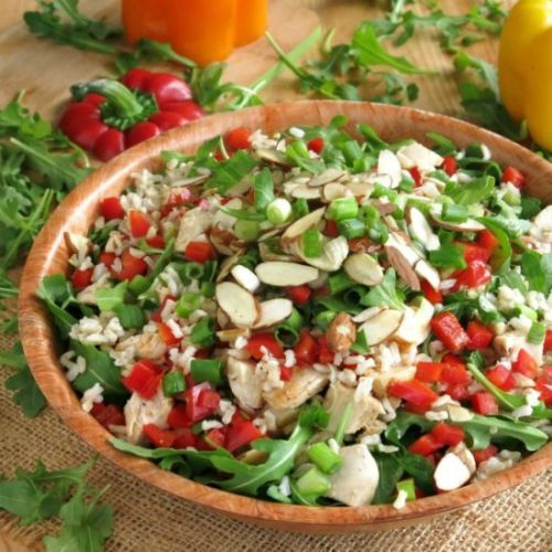 Chicken Arugula Rice Salad