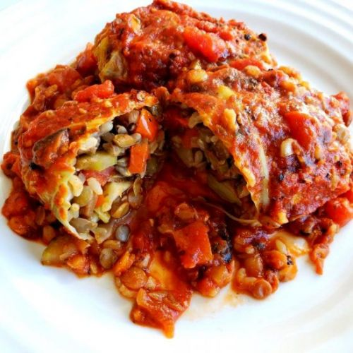 Vegan Cabbage Rolls with Lentils