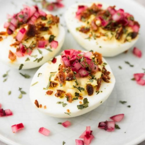 Keto deviled egg recipe