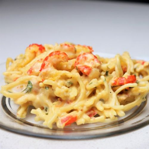 Cheesy Crawfish Spaghetti