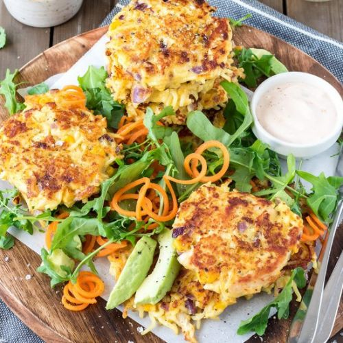 Chicken Noodle Fritters