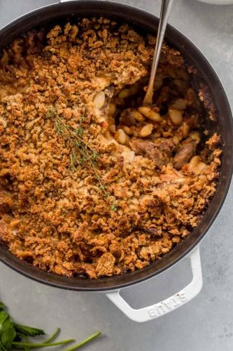 Fennel and Duck Cassoulet with Languedoc Wine