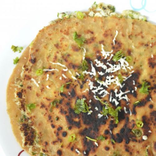 Bell Pepper cottage cheese paratha