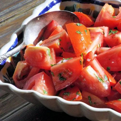 Tomato Salad with Lime Dressing