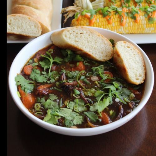 Beef Short Ribs with Homemade Bread
