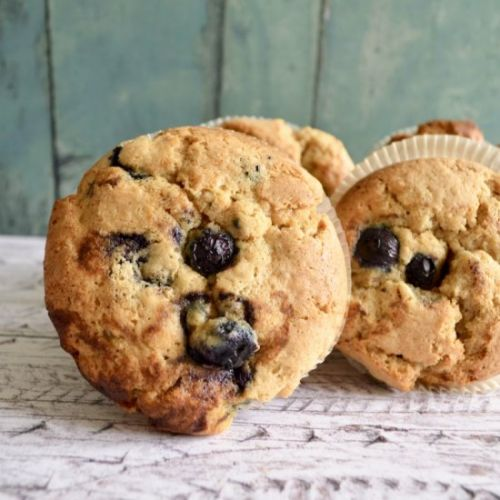 Blueberry Peanut Butter Muffins