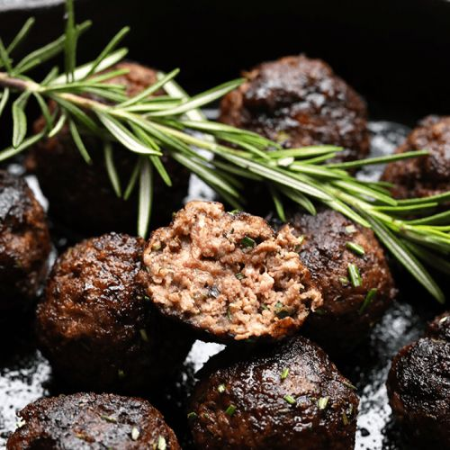 Healthy Rosemary Thyme Balsamic Meatball Appetizer Recipe
