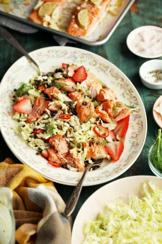 Salmon and Fennel Spring Dinner Salad