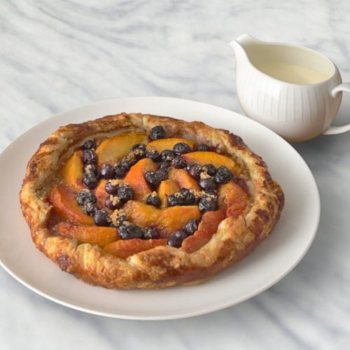 A Special Peach and Blueberry Tart