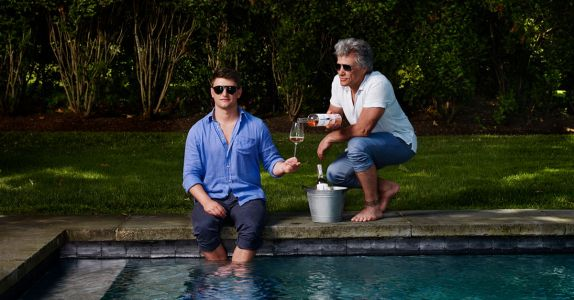 Rosé-Loving Jesse Bongiovi and Dad, Jon Bon Jovi, Teach Us 'the Exhale'