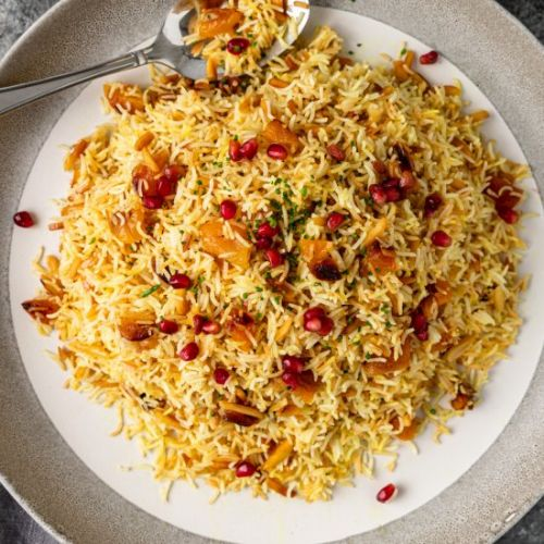 Persian Saffron Rice with Apricot