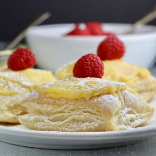 Dairy-Free Lemon Raspberry Puffs