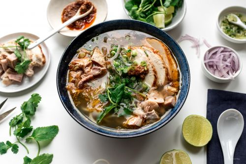 Hue Style Spicy Turkey Vermicelli Noodle Soup Recipe