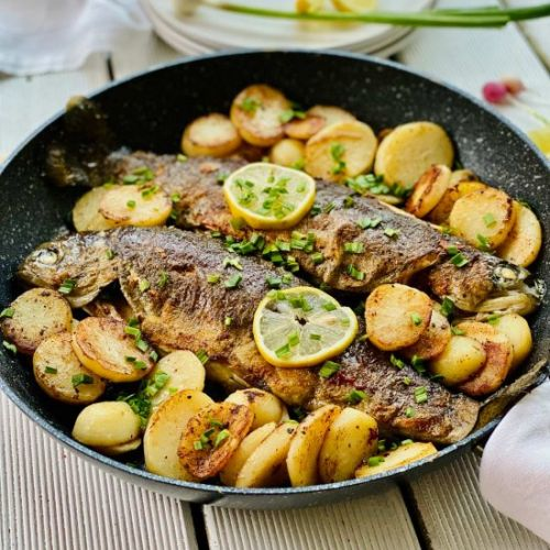 Rainbow Trout With Potatoes