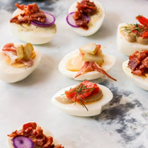 Paleo Hard Boiled Egg Snacks 3 Ways