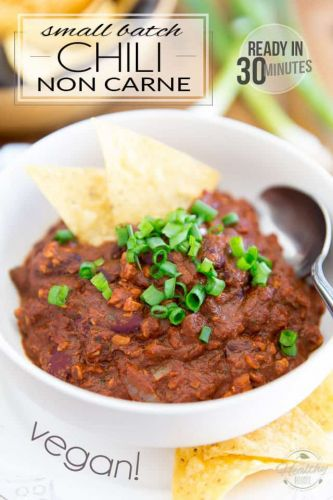 Small Batch Vegan Chili Non Carne - Ready in 30 minutes!