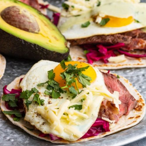 Grilled Steak and Egg Tacos