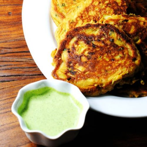 Ramp and leek fritters