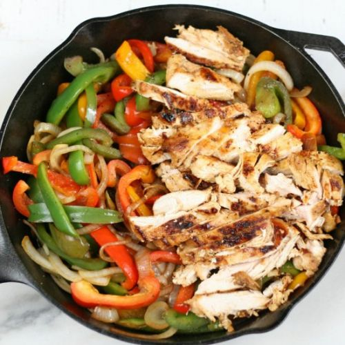 Cast Iron Chicken Fajitas